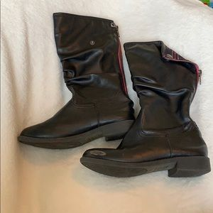AEO Zip Up Riding Boots Girls Size 13 1/2